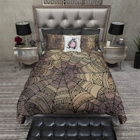 Mandala Inspired Spider Web Bedding ? Ink and Rags
