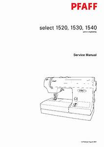 Pfaff 1520 1530 1540 Sewing Machine Sm Service Manual
