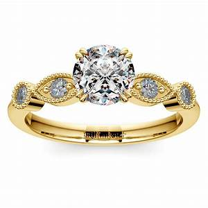 Antique style wedding rings that are conflict free for In style wedding rings