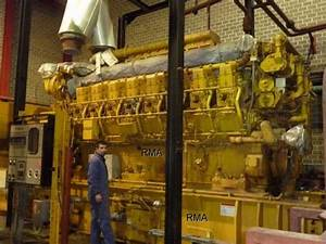 3655kw Caterpillar Natural Gas Engine Generator Sets G3616 4 Sets For Sale