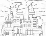 Factory Doodle Smoking Pipes Pollution Industry Concepts Topics Environment Structure Built Construction sketch template