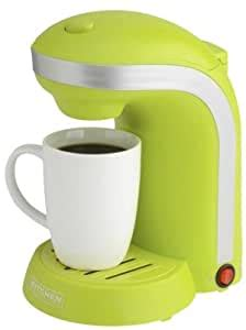 No need to wait for it to heat before selecting your cup size. Amazon.com: Kitchen Selectives 1-Cup Single Serve Drip Coffee Maker, Green: Drip Coffeemakers ...