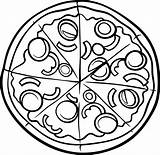 Pizza Coloring Pages Printable Cartoon Sheets Thriftymommastips Clip sketch template
