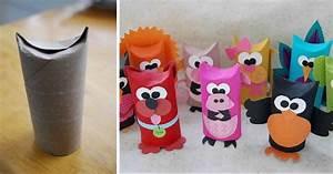 Fabriquer Un Personnage En Carton : 9 personnages rigolos r aliser avec des rouleaux de ~ Zukunftsfamilie.com Idées de Décoration