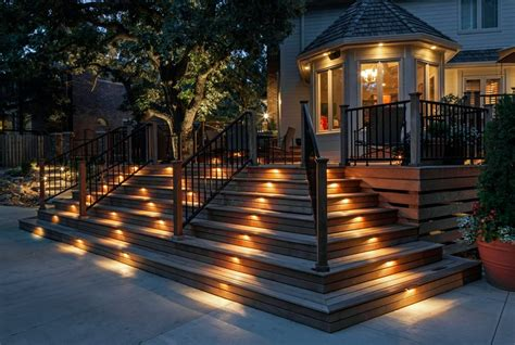 outdoor deck lighting deck lighting ideas landscaping network