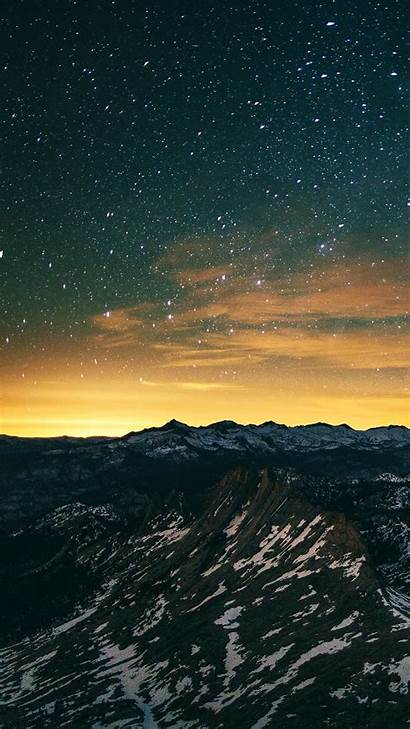 Smartphone Wallpapers Landscape Night Android Sky Mountain