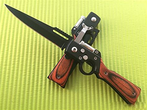 original rifle shaped ak style steel pocket knife  flashlight black buy