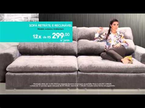 ambientare casa promocao sofa retratil  reclinavel youtube