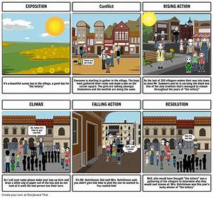 Plot Diagram  U0026quot The Lottery U0026quot  Storyboard By Ashkay Blevins