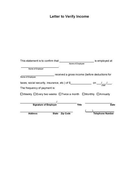 income verification letter  legalformsorg