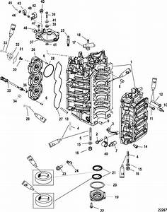 Mercury Mariner Racing 300xs  3 2l Dfi  Cylinder Block
