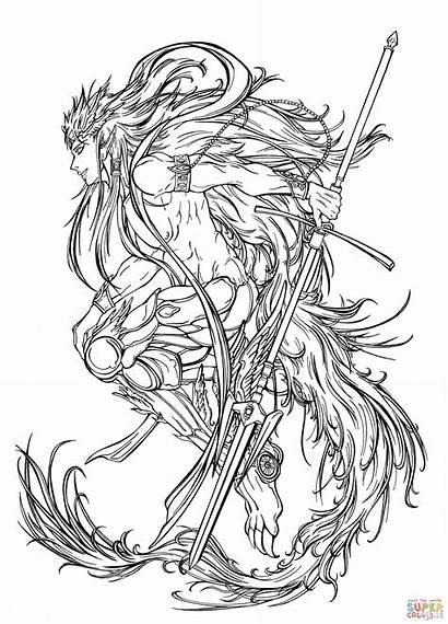 Coloring Pages Manga Magi Magic Labyrinth Equip