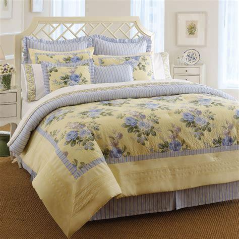 4 pc laura ashley caroline queen comforter bed set floral