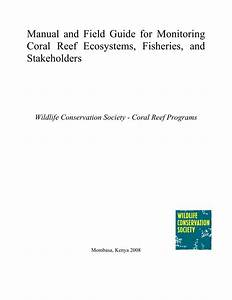 Pdf  Manual And Field Guide For Monitoring Coral Reef
