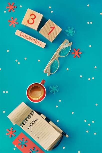 Coffee Calendar Notebook Resolutions Premium Glasses Wooden