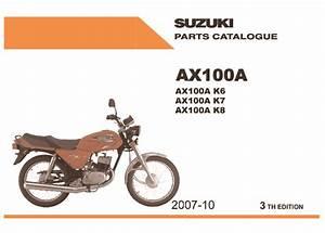 Suzuki Ax 100 Ax 100 2 Pdf Diagramas De Motocicleta