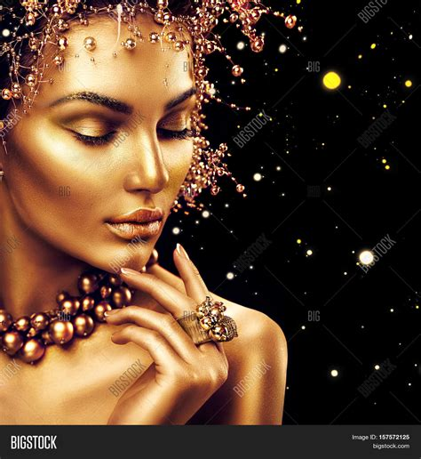beauty fashion model girl golden image photo bigstock