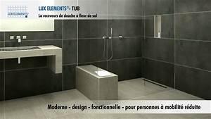 Receveur Salle De Bain : produit lux elements receveur de douches fleur de sol pour toutes les salles de bain youtube ~ Melissatoandfro.com Idées de Décoration