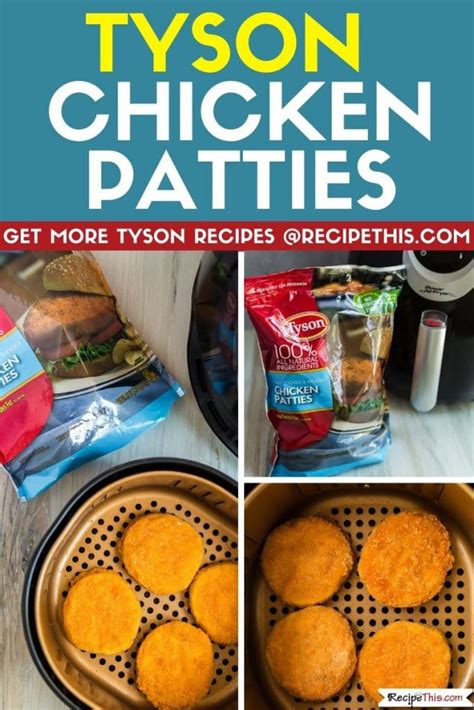 chicken tyson air patties fryer frozen recipethis recipes cooking cook wings patty