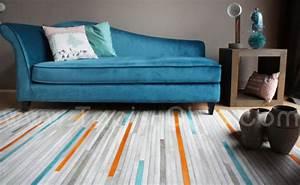 tapis cuir posy home sprit tapis chic le blog With tapis peau de vache avec canape relax cuir blanc