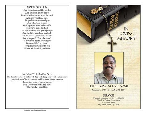 funeral obituary template funeral program template archives funeralprogram template
