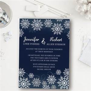 affordable navy blue snowflake winter wedding invitations With blank snowflake wedding invitations