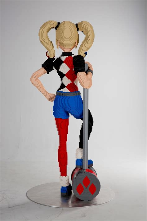 life sized lego version  harley quinn  coming