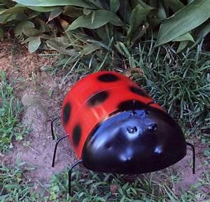 Ladybug, Garden, Planter, Sculpture, Yard, Art, Gift
