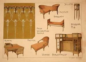 Art Nouveau Mobilier : 48 best images about art nouveau illustrations on ~ Melissatoandfro.com Idées de Décoration