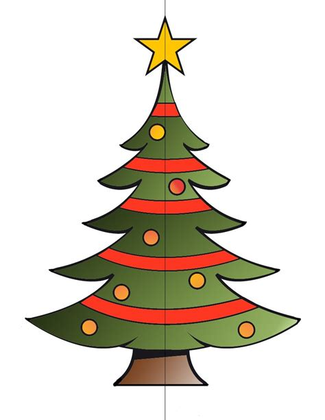actividades manuales de 193 rbol de navidad 3d es hellokids com