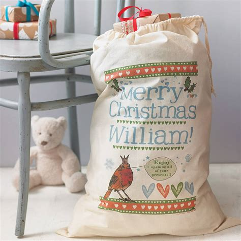personalised christmas gift sack by alice palace