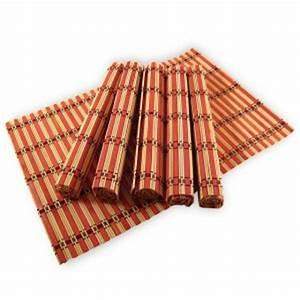 Set De Table Bambou : un jeu de 6 sets de table exotiques en bambou d coration asiatique et d co tendance ~ Teatrodelosmanantiales.com Idées de Décoration