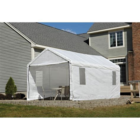 shelterlogic  clearview canopy enclosure kit white  windows canopy  included