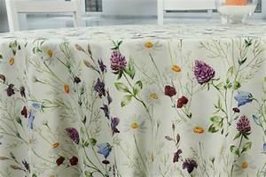 Abwaschbare Tischdecke Rund : abwaschbare tischdecke sommerblume viveros ab 80 cm bis ~ Michelbontemps.com Haus und Dekorationen