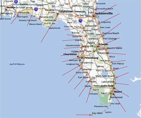 florida gulf coast map