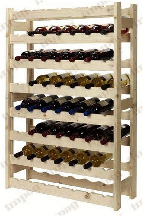 casier 224 vin en bois naturel 56 bouteilles