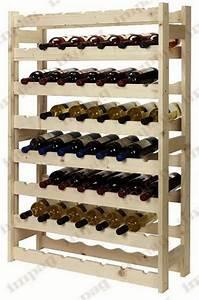 Casier à Bouteilles : casier vin en bois naturel 56 bouteilles ~ Teatrodelosmanantiales.com Idées de Décoration