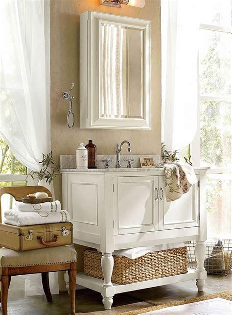 Pottery Barn Bathroom by How To Furnish A Small Bathroom Pottery Barn