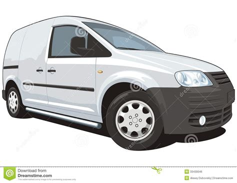 Commercial Van Stock Vector. Illustration Of Horizontal