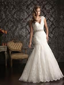 wedding dresses lace mermaid cap sleeve v neck vintage lace beading wedding dress with low back