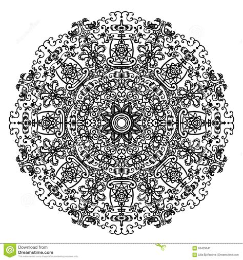 circular mandala pattern  slavic motifs  elements