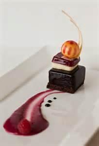 Chocolate Cake Plated Dessert Presentation