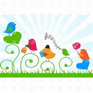 Birthday card - birds send greetings to a friend, 22027 ...