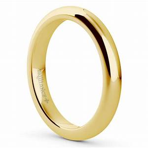 comfort fit men39s wedding ring in yellow gold 3mm With mens wedding rings comfort fit