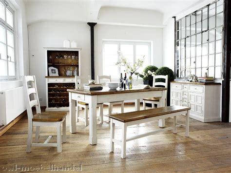 Essgruppe Weiß Massiv Landhausstil Findus Designermöbel