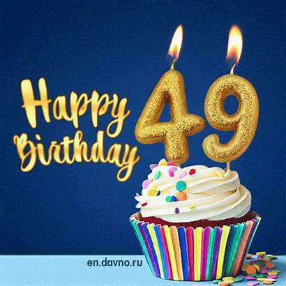 Birthday 49 Happy Animated Card 49th Cards
