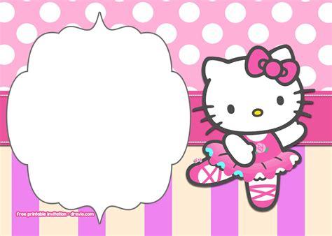 printable  kitty pink polka dot invitation