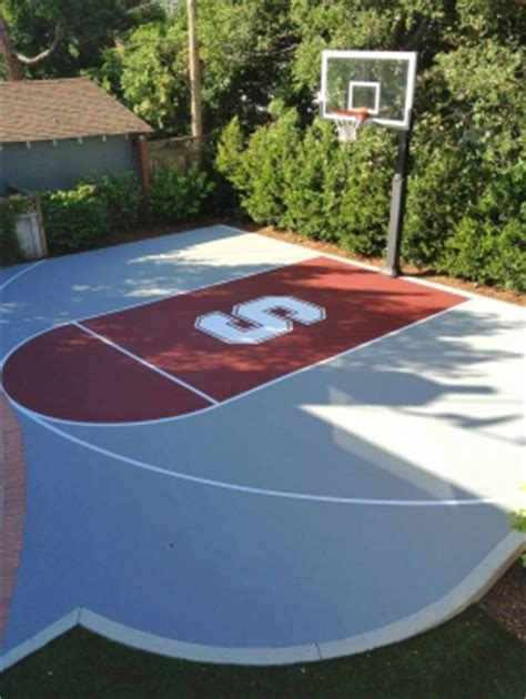 basketball courts  painted  striping