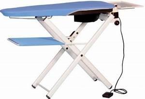 Support Table À Repasser : table repasser chauffante et aspirante plia avec support tablette pour poser le linge ~ Melissatoandfro.com Idées de Décoration