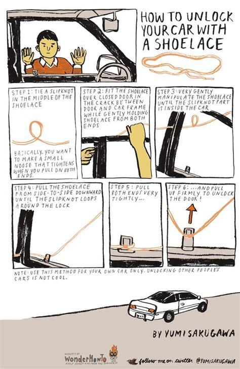 how to open a car door how to unlock your car with a shoelace 171 the secret